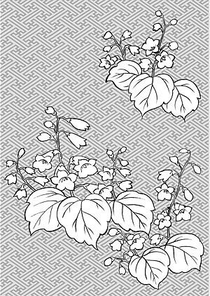 Vektor Zeichnung von Blumen-29