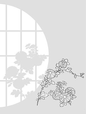 รูปวาดเส้นเวกเตอร์ของ flowers-31(Chrysanthemum)