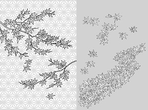 Vektor Zeichnung von Blumen-34(Maple Leaf)