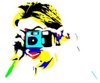 Personas que toman imágenes vectoriales