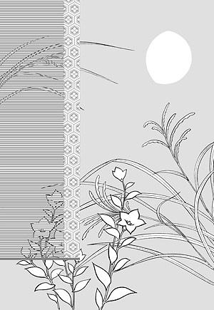 Dibujo de líneas de flores -8