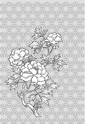 Dessin de la ligne de fleurs -11
