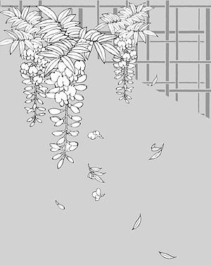رسم خط من الزهور-13