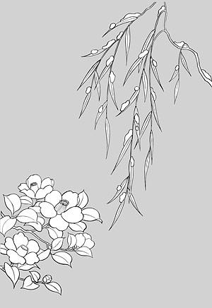 Dessin de la ligne de fleurs -16