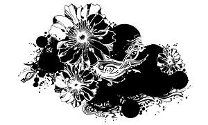 Padrão em preto e branco vector