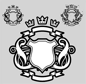 Banner de coroa de escudo