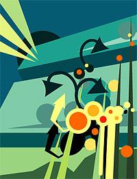 Цвет и элементы вектора