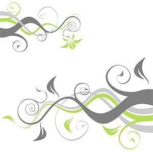植物や籐パターン要素ベクトル