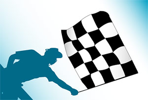 Banner de F1 de material de vectores