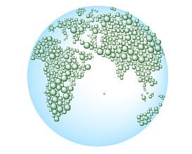 Mapa del vector de agua de la Tierra-2