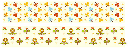 Matériau de vecteurs de mignonnes petites fleurs