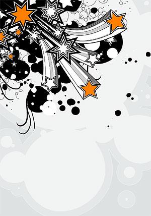 Étoiles vectoriel tridimensionnel
