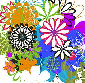 Flores simples de vectores