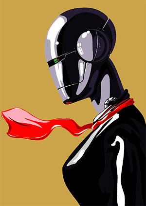 벡터 소재 여성 로봇