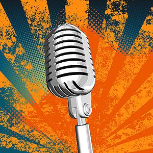 Серебряный микрофон векторного материала