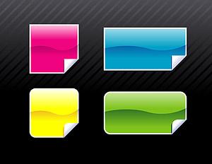 Botones de estilo 2.0 web angular de vectores de material