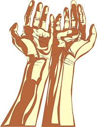 Matériau de vecteur de mains personnes