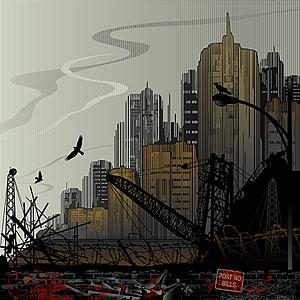 Sitios de construcción urbana de vector