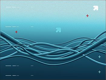 Ligne de vecteur bleu