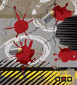 Balles, fissures, matériel de vecteur de taches sang
