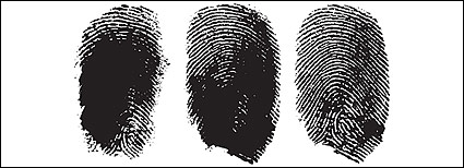 ベクトルの指の指紋の素材