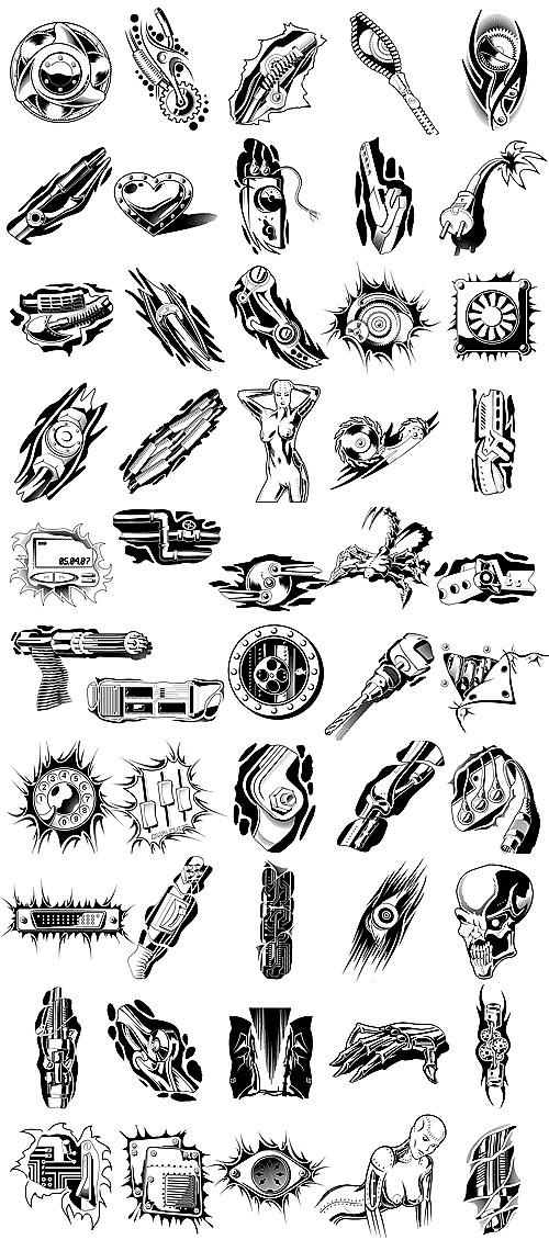 Logotipo de objetos metálicos