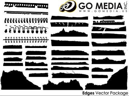 Vaya Media producida material de vectores - todo tipo de siluetas de papel