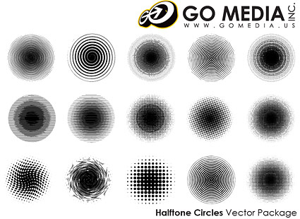 Go que Media produit vectoriel matériel - imprimer les points de vente réticulées