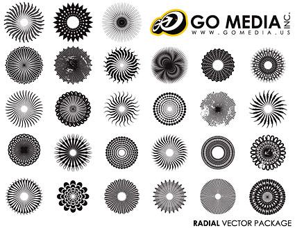移動メディアの生産のベクター素材 - 円形のロゴ