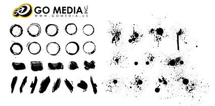 Vá produtos materiais de mídia vetorial - a série de tinta