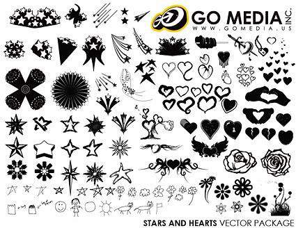 Перейти СМИ табелей векторный материал - сердце образный и звезды серии