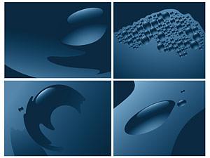 Material de vetor de água azul