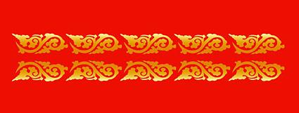 古典的な中国の縁起の良い装飾的なパターン