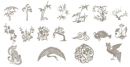 古典的な中国語の縁起の良いデザイン