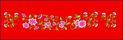 คลาสสิกจีนมงคลเล็กดอกไม้