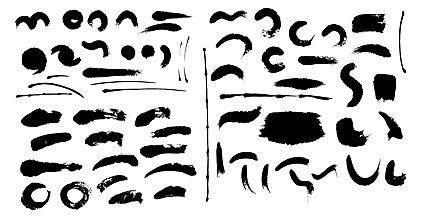 Material de tinta de vectores