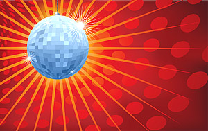 Discoteca de bola de cristal de material de vectores