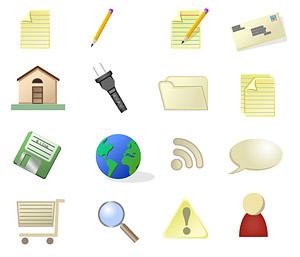El compacto material usado vector icono