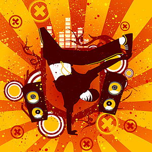 Hip Hop theme vector material