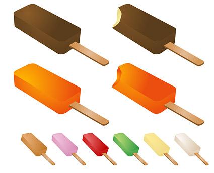Paletas de verano vector de material