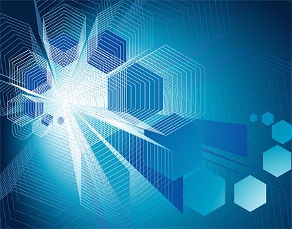 Lignes de vecteur de haute technologie style background material