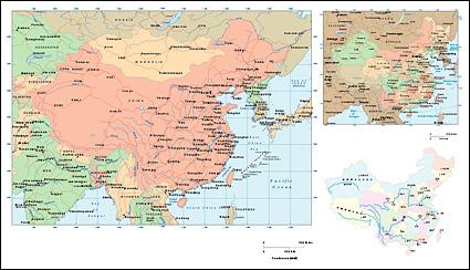 中国ベクトル地図
