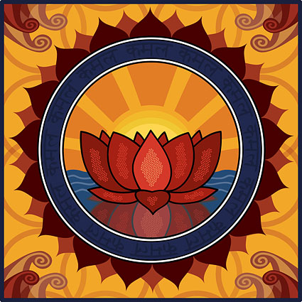 Lotus Logo Thema Vektor-material
