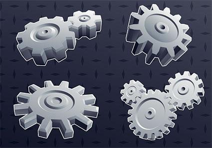 Material de antecedentes de engranaje cool 3D elemento vector