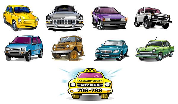 Vector hermosos automóviles-3