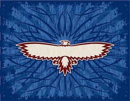 Tótem de águila material de vectores