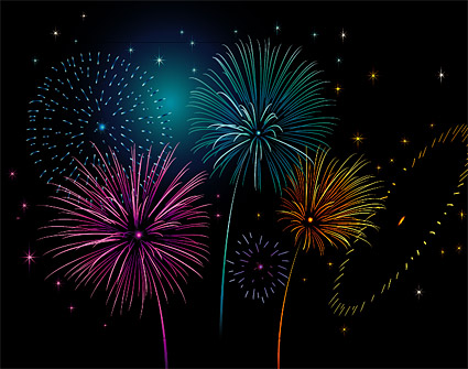 Coloridos Fuegos Artificiales Free Download