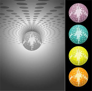 Boule de cristal laser Disco