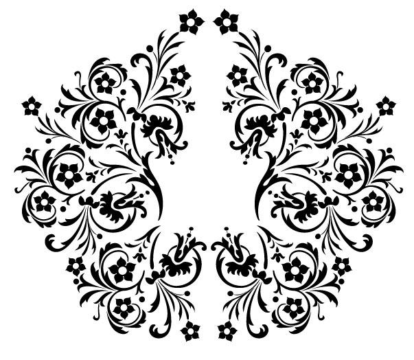 Schwarz-weiß-Muster Vektor