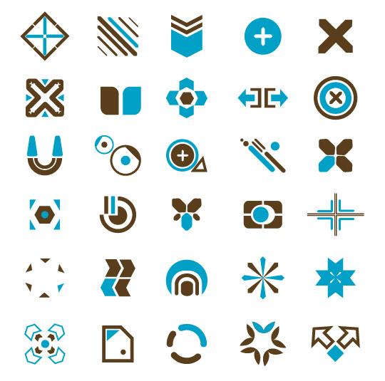 Tendencia de vector de elementos de diseño-50